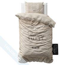 Sleeptime Dekbedovertrek - Elegant Suite - Taupe - 140x220 cm