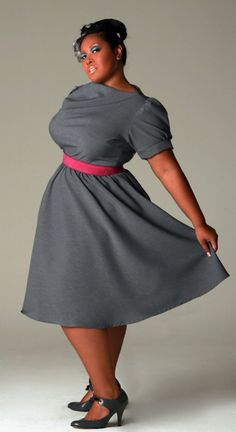 """Jibri Plus Size.  And for us chesty girls who want to avoid the illusion of the """"monoboob"""" a scarf loosely tied and falling down the chest will break it up."""