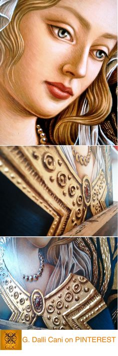 Assemblages, Tempera, Dali, Gold Leaf, Angels, Faces, Princess Zelda, Drawings, Painting