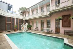 SLeeps 16+, french quarter, pool. House in New Orleans, United States. Our classic New Orleans home is steps away from the French Quarter, Marigny/Bywater, and Frenchmen Street!    A Classic New Orleans retreat steps from everything!    This listing is for the entire property consisting of 6 private, spacious suites ...