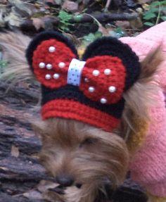 Petit chapeau de chien petit chien bandeau par LyudmilaHandmade