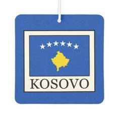 Shop Kosovo Car Air Freshener created by KellyMagovern. Kosovo Flag, Odor Eliminator, Car Air Freshener, Political Events, National Flag, Gifts For Family, Flags, Banner, Banner Stands
