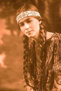Native beauty- restored in photoshop.