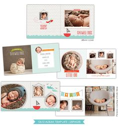 INSTANT DOWNLOAD  12x12 Album template for by birdesign on Etsy, $35.00