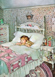 My favorite illustrator ❤ Eloise Wilkins Illustration. Art And Illustration, Book Illustrations, Vintage Children's Books, Vintage Art, Lapin Art, Cute Bear, Little Golden Books, Good Night, Night Time