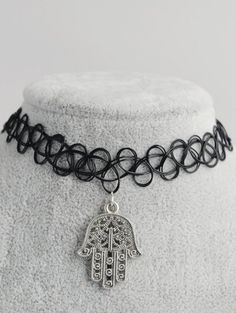 SHARE & Get it FREE | Palm Hollow Out Tattoo Choker - BlackFor Fashion Lovers only:80,000+ Items • New Arrivals Daily Join Zaful: Get YOUR $50 NOW!