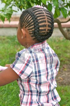 A Cornrowed Take on Traditional French Braids | Chocolate Hair / Vanilla Care