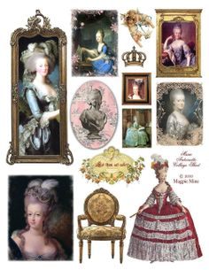Marie Antoinette Collage Sheet Digital Download by MagpieMine