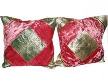 Sofa Cushion Cover Bronze Pink Patchwork Cushion Covers #homedecor #cushioncovers