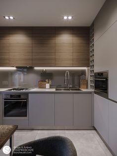 Kitchen Cupboard Designs, Kitchen Room Design, Modern Kitchen Design, Home Decor Kitchen, Interior Design Kitchen, Kitchen Furniture, New Kitchen, Home Kitchens, Apartment Kitchen