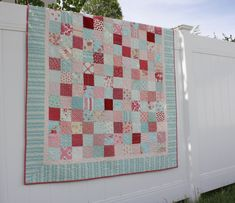 Aqua and red and pink patchwork quilt Aqua Quilt, Flag Quilt, Pink Quilts, Baby Quilts, Block Quilt, Pinwheel Quilt, White Quilts, Green Quilt, Patch Quilt