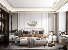 Luxury Bedroom Design, Bedroom Bed Design, Home Room Design, Luxury Interior, Home Interior Design, Bedroom Setup, Small Room Bedroom, Bedroom Decor, Contemporary Bedroom