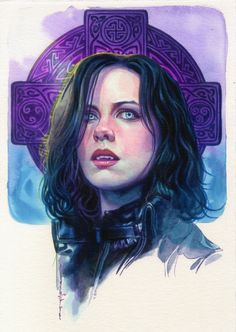 Underworld - Selene by Brian Stelfreeze … Underworld Vampire, Underworld Selene, Underworld Movies, Underworld Characters, Horror Art, Horror Movies, Underworld Kate Beckinsale, Vampire Art, Vampires And Werewolves