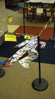 Clever Banned Books Week display at Dorman High School (SC)