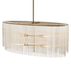 now in oval , love this light - clear glass hanging rods. Royalton Oval Pendant - arteriors home