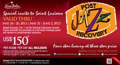 SPECIAL INVITE to St Lucians POST Jazz Recovery @Coco Palm St Lucia
