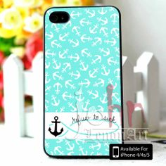 Anchor Refuse To Sink for iPhone 4/4s Case,