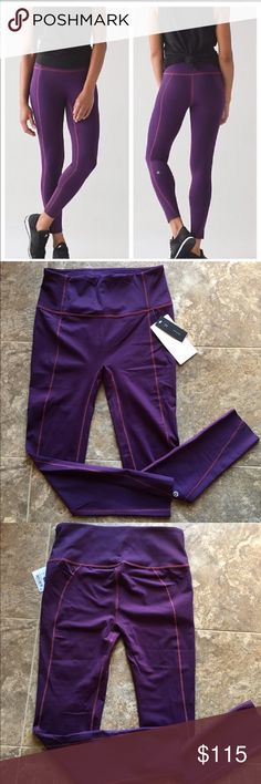 Lululemon LIKE NOTHING TIGHT 7/8 size 8 New with tags. DARKEST MAGENTA color. No trades. PRICE FIRM lululemon athletica Pants Leggings
