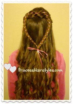 Four Strand Ribbon Heart Braid (Valentine's Day) from Princess Hairstyles