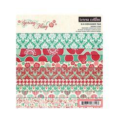 Teresa Collins - Spring Fling Collection - 6 x 6 Paper Pad at Scrapbook.com $5.99