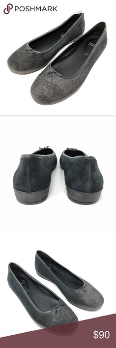 Eileen Fisher Glee Gray Dusted Suede Flats SZ 8 Retailed $228+tax. Sold out online. Beautiful glitter dusted suede. Comfortable for everyday wear.  Pre-owned. No scuffs, stains or odors. Our shoes have been cleaned with professional products and if necessary, hand washed. Shipping from smoke free environment. Please see pictures for detailed condition of item. Please do not hesitate to ask any questions before purchasing. Eileen Fisher Shoes Flats & Loafers