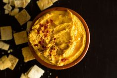 Turmeric Sweet Potato Hummus | Baked sweet potato with cannelini beans, tahini, garlic and spices.