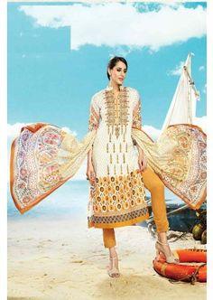 Cream, Mustard Cotton Salwar Kameez, - £74.00, #FashionUK #DesignerSalwarKameez #EidSepcialDress #Shopkund