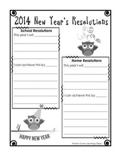 1000 images about junior intermediate language on for New years goals template