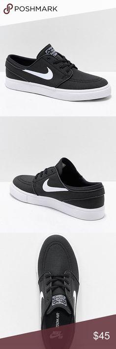 aba2d0629c3 Nike SB Janoski Black   White Ripstop Skate Shoes Nike SB Janoski Black    White Ripstop