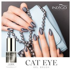 Moonlight Cat Eye Gel Brush | Indigo Nails