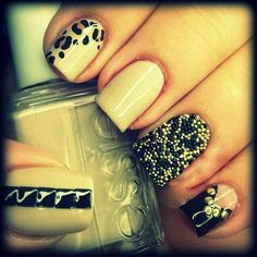 Nails Art Trends...studs, studs, micro beads :)