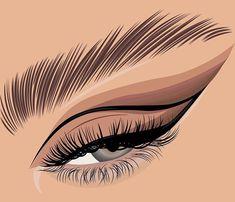 Instagram Brows, Motif Tropical, Eyelash Logo, Lashes Logo, Beauty Studio, Eyelashes, Fake Lashes, Eyebrows, Digital Illustration