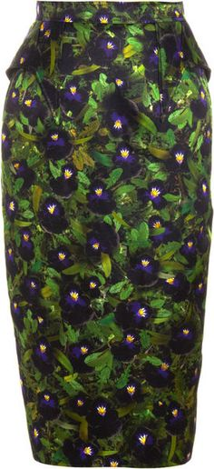 Givenchy Pansy Skirt - I'm sure at some point I'll have had my fill of patterned pencil skirts...but it's not today. And it probably won't be tomorrow either.