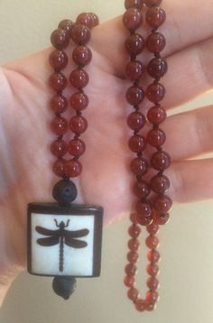 108 by MalasByTini Dragonfly Meaning, Yang Energy, Emotional Strength, Dragonfly Necklace, Red Agate, How To Increase Energy, Yin Yang, Bohemian Jewelry, Illusions