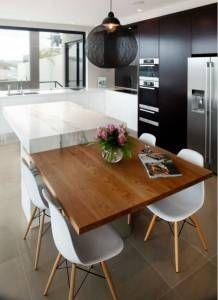 cozinhas americanas com mesa