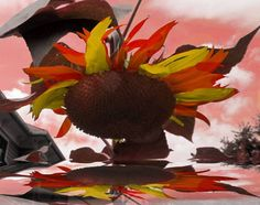 sunflower  abstract by paradisereal on Etsy, $22.00