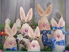 """tole painted bunnies 