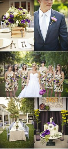 Spice up your bridal party with print bridesmaids dresses!! We LOVE this trend!