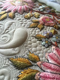 Kelly Cline Quilting, quilted linen