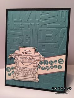 Stampin' Up!, Freshly Made Sketches 140, Tap Tap Tap, Silver Foil Sheet, Alphabet Press Embossing Folder