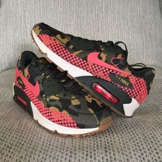 Nike Air Max 90 Jacquard Premium Nike Air Max 90 Jacquard Premium in camo/pink. New in half box - no lid (box is beat up from the store but the shoes are perfect) Nike Shoes Athletic Shoes
