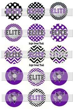 INSTANT DOWNLOAD Elite Team  Volleyball Purple by sugarnspicebow