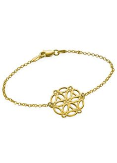 My Only One - Circle of Life Mandala 18K Gold Plated Sterling Silver Bracelet My Only One ID: 200-03-124-08 Thickness: 0.7mm / 0.03  Height/Width: 22.96mmx21.61mm / 0.90 x0.85  Weight: 1.57g Material: 18k Gold Over Sterling Silver 0.925 #modli #modlifashion #fashion #elegant #modesty #modestfashion #trendy