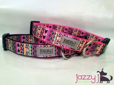 Alluring Aztec Pink and Purple Dog Collar by JazzyJDesigns on Etsy, $18.00