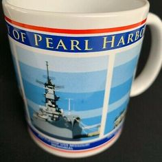 Pearl Harbor Mug Coffee Hawaii Bowfin Arizona Memorial WWII Military Memorabilia  | eBay