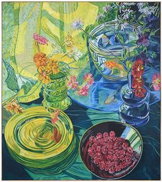For Auction: Robert Hennon After Janet Fish (#0107) on Jun 10, 2021 | Brunk Auctions in NC Goldfish, Trees To Plant, Raspberry, Instagram, Plants, Projects, Image, Fish Paintings, Artists