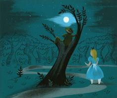Alice and the Cheshire Cat by Mary Blair.
