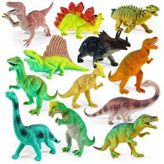"Boley 12 Pack 9"" Educational Dinosaur Toys - Kids Realistic Toy Dinosaur Figures for Cool Kids and Toddler Education! (T-rex, Triceratops, Velociraptor, etc) *** Read more at the image link. (This is an affiliate link) Dinosaur Printables, Dinosaur Cards, Dinosaur Toys For Kids, Kids Toys, Dinosaurs, Party Favors, Prehistoric Creatures, Plastic Animals, Helium Balloons"