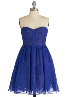 Syzygy Golly Dress, #ModCloth Im in love with the pattern on the dress and its my fav color #blue