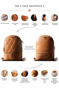 The most affordable luxury backpacks! With 2 faces and over 15 features, this might be the coolest backpack ever! Denim Backpack, Luggage Backpack, Backpack Bags, Fashion Backpack, Fashion Bags, Leather Backpack, Fashion Accessories, Men's Backpacks, Luxury Backpacks